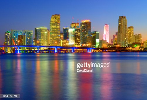 A cityscape of the beautiful Miami
