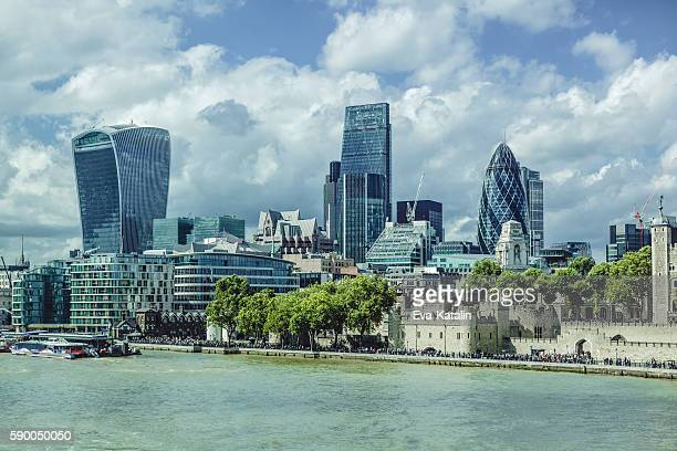 Cityscape of the finance district of London