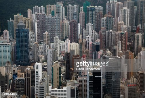 Cityscape of urban highrises : Stock Photo