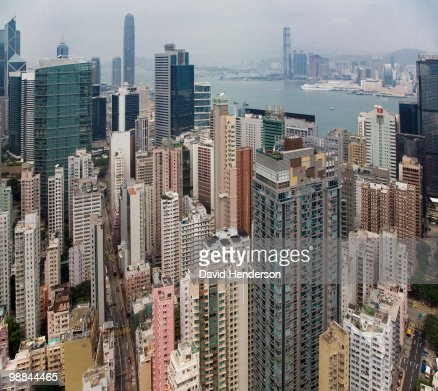 Cityscape of Wanchai, Hong Kong, China : Photo