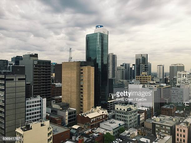 Cityscape On Cloudy Day