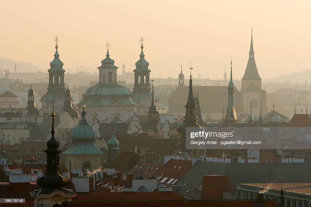 Cityscape over Prague