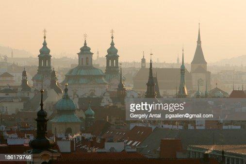 Cityscape over Prague