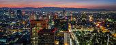 Cityscape panorama of Mexico City