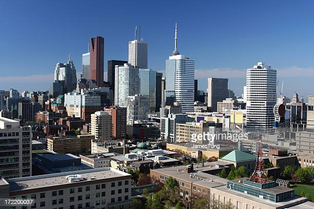 A cityscape photo of downtown Toronto, Canada on a clear day