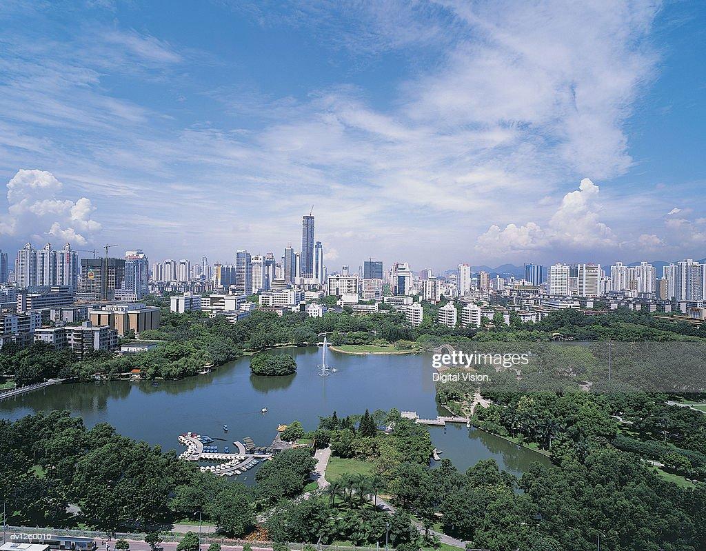 Cityscape, Shenzhen, Guangdong, China