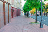 the streets of Minsk in the morning