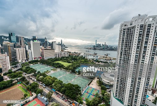 cityscape Victoria Park Causeway Bay Hong Kong : Stock Photo