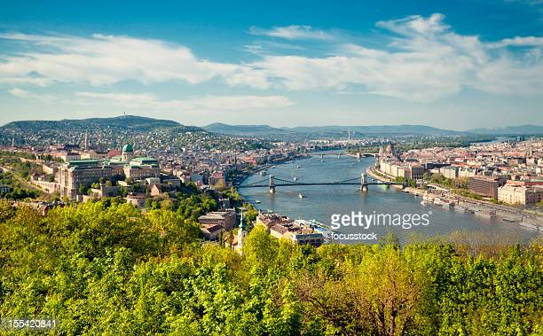 A cityscape view of Budapest, Hungary