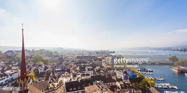 Cityscape with Lake Zurich, Zurich, Switzerland