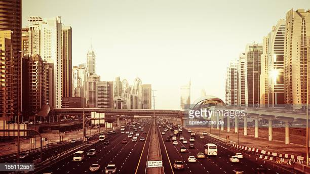 Cityscape with road