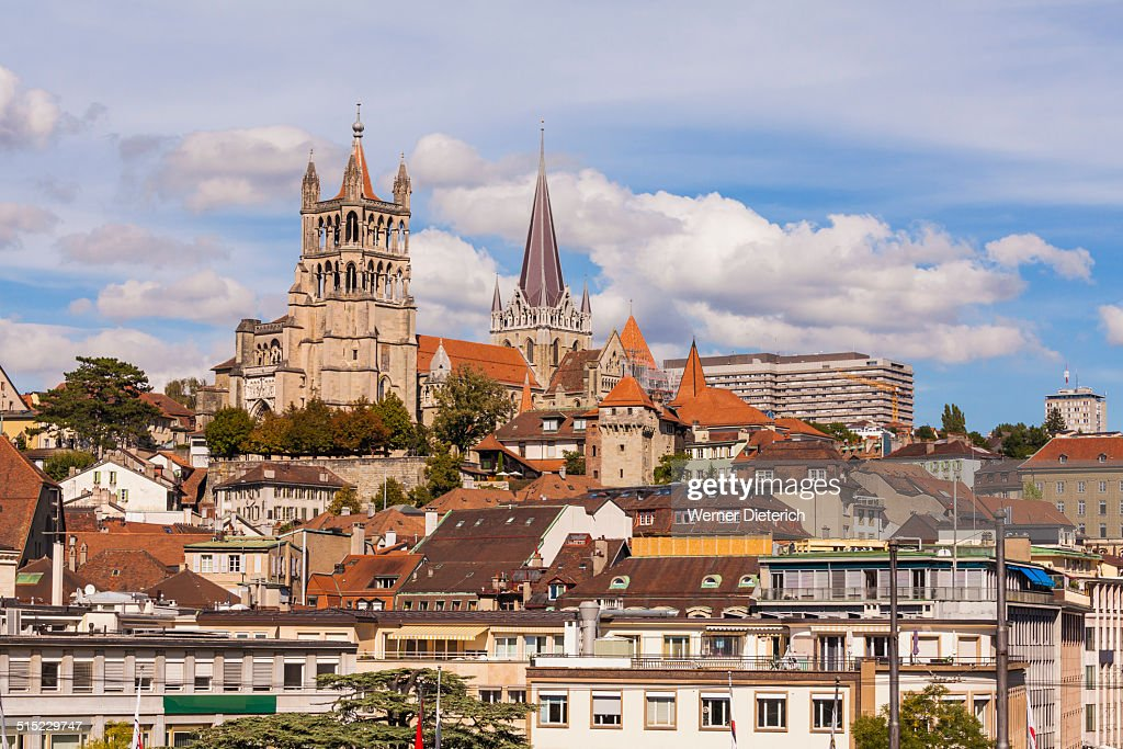 Cityscape with the cathedral, Lausanne