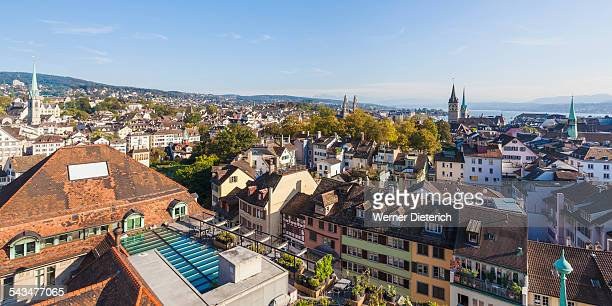 Cityscape with the old town, Lake Zurich, Zurich