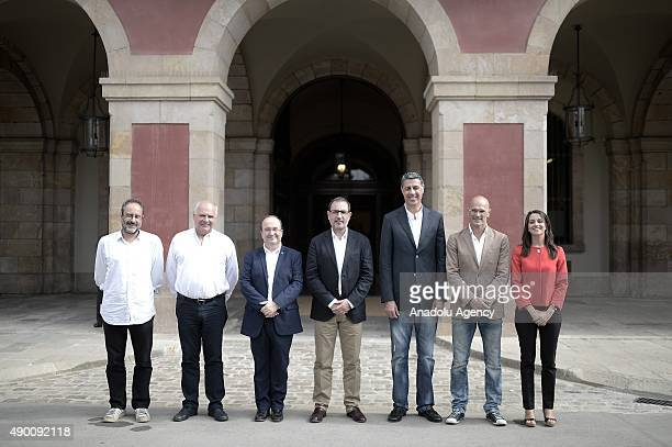 Ciudadanos' candidate Ines Arrimadas Junts pel Si's candidate Raul Romeva People's Party's candidate Xavier Garcia Albiol UDV's candidate Ramon...
