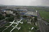 Civil Aviation Mumbai Airport Aeroplane Hangar Junk Aircraft