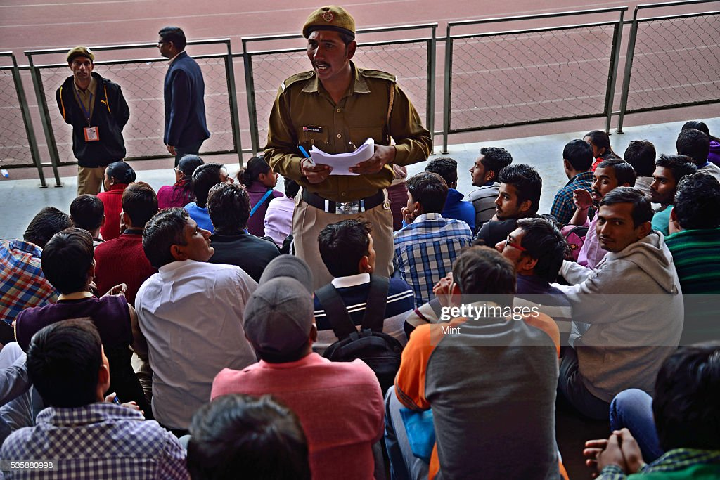 Civil Defence personnel, NCC cadets and NSS volunteers, at Chhatrasal Stadium during a briefing session to make aware about their specific role on odd-even scheme on December 30, 2015 in New Delhi, India.