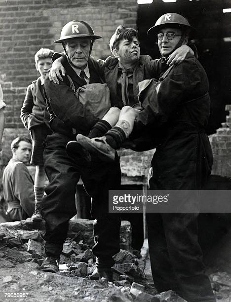 15th April 1953 London A realistic training exercise called 'Operation Camberwell' goes ahead in scenes reminiscent of the 'Blitz' as Civil Defence...