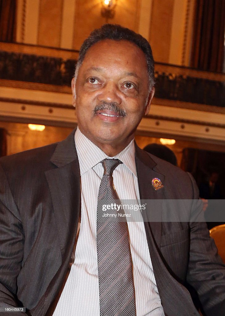 Civil rights activist and minister Jesse Jackson attends The 16th Annual Wall Street Project 'Access To Captial' Luncheon at The Roosevelt Hotel on January 31, 2013, in New York City.