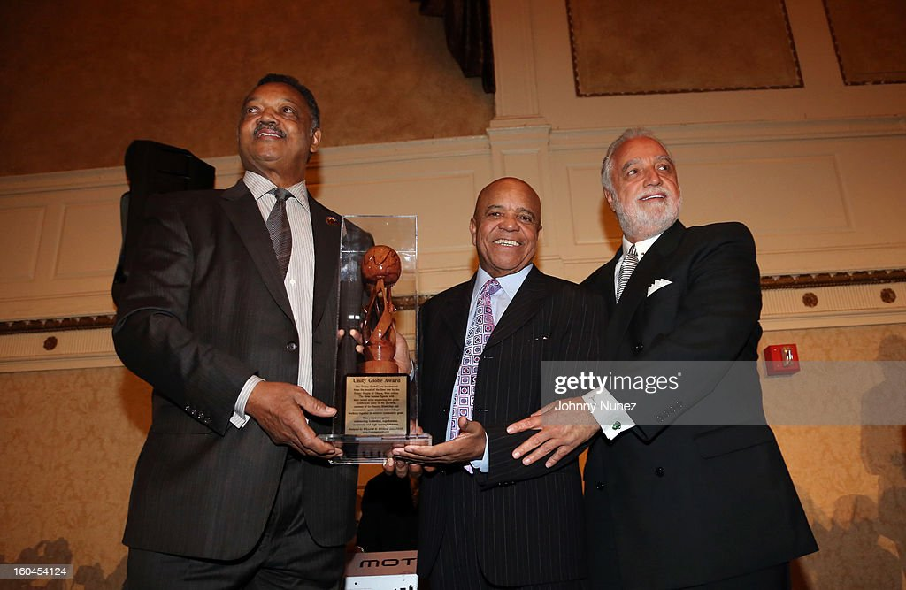 Civil rights activist and minister Jesse Jackson, founder of Motown Records Berry Gordy, and civil rights activist and entrepreneur Danny J. Bakewell attend The 16th Annual Wall Street Project 'Access To Captial' Luncheon at The Roosevelt Hotel on January 31, 2013, in New York City.