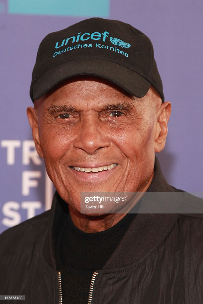 Civil rights activist <a gi-track='captionPersonalityLinkClicked' href=/galleries/search?phrase=Harry+Belafonte&family=editorial&specificpeople=204214 ng-click='$event.stopPropagation()'>Harry Belafonte</a> attends the screening of 'Battle of amfAR' & Beyond The Screens: The Artist's Angle during the 2013 Tribeca Film Festival at SVA Theater on April 24, 2013 in New York City.