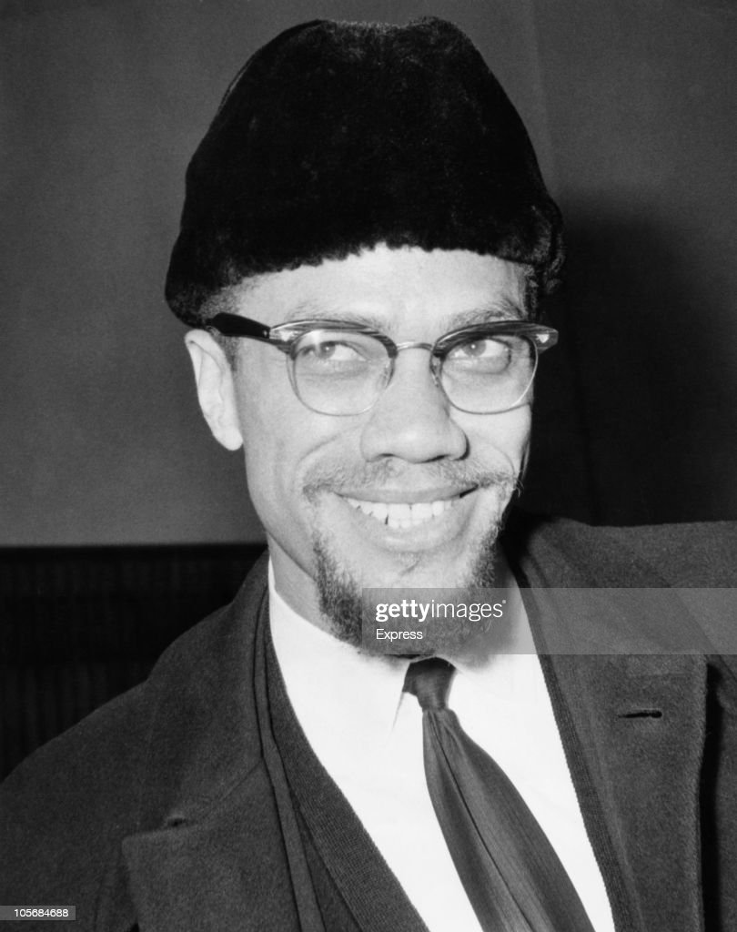 Civil rights activist <a gi-track='captionPersonalityLinkClicked' href=/galleries/search?phrase=Malcolm+X&family=editorial&specificpeople=70045 ng-click='$event.stopPropagation()'>Malcolm X</a> (1925 - 1965) arrives at London Airport, 9th February 1965. He has flown back from Paris-Orly, having been refused admittance to France on the grounds that his presence might incite disturbances.