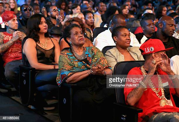 Civil rights activist Myrlie EversWilliams attends the BET AWARDS '14 at Nokia Theatre LA LIVE on June 29 2014 in Los Angeles California