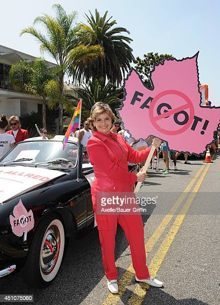 Civil rights attorney Gloria Allred attends the LA PRIDE 2014 Parade on June 8 2014 in West Hollywood California