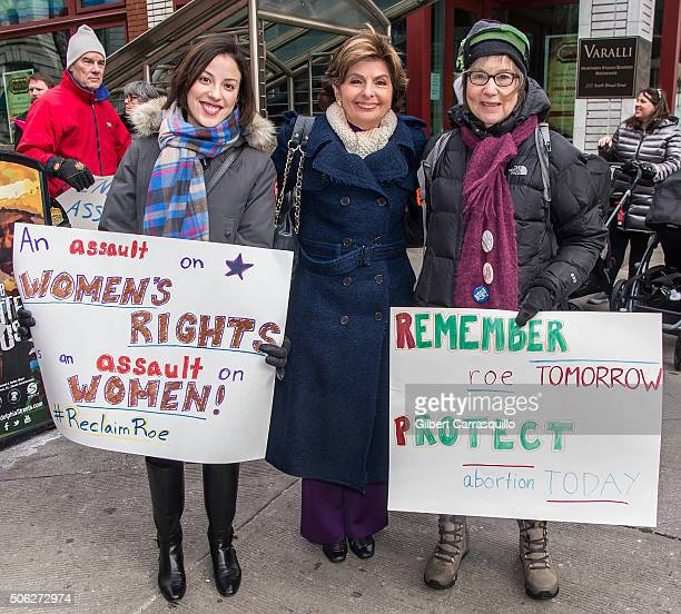 Civil rights lawyer Gloria Allred attends the ProChoice Rally held in honor of the 43rd anniversary of the US Supreme Court's decision in Roe v Wade...