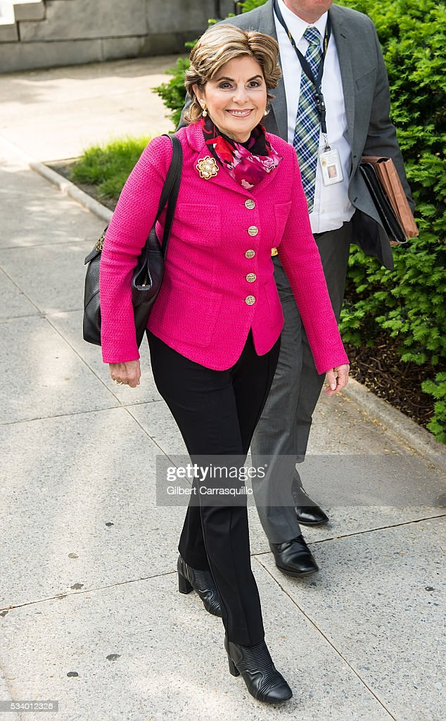 Civil rights lawyer <a gi-track='captionPersonalityLinkClicked' href=/galleries/search?phrase=Gloria+Allred&family=editorial&specificpeople=213999 ng-click='$event.stopPropagation()'>Gloria Allred</a> is seen during Bill Cosby Preliminary Hearing at Montgomery County Courthouse on May 24, 2016 in Norristown, Pennsylvania.