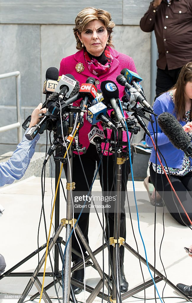 Civil rights lawyer Gloria Allred speaks at a news conference outside the Montgomery County Courthouse on May 24, 2016 in Norristown, Pennsylvania.