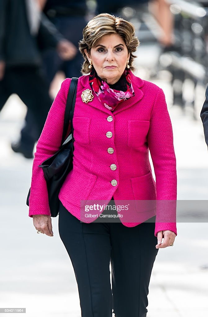 Civil rights lawyer Gloria Allred walks outside the Montgomery County Courthouse on May 24, 2016 in Norristown, Pennsylvania.