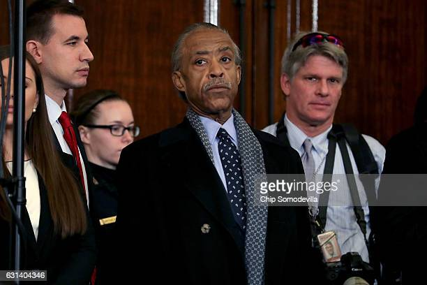 Civil rights leader and television personality Rev Al Sharpton attends the confirmation hearing for Sen Jeff Sessions be the US Attorney General...