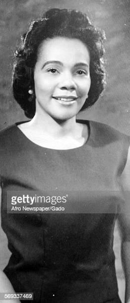 Civil Rights leader Coretta Scott King 1966