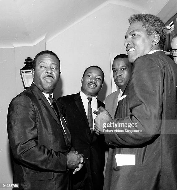 Civil rights leaders gather together during the 1964 Democratic National Convention Atlantic City NJ From left to right the Rev Ralph David Abernathy...