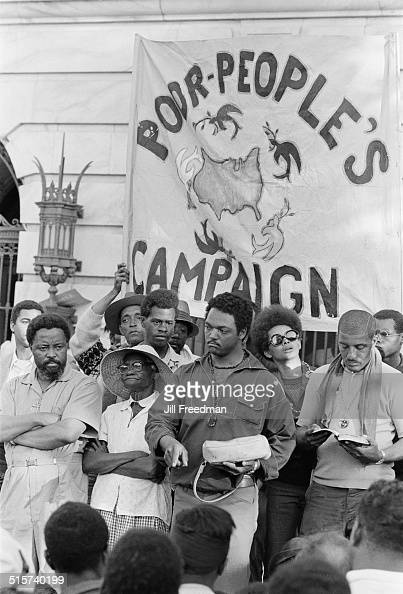 Civil rights leaders Hosea Williams and Jesse Jackson in Washington DC during the Poor People's Campaign 1968