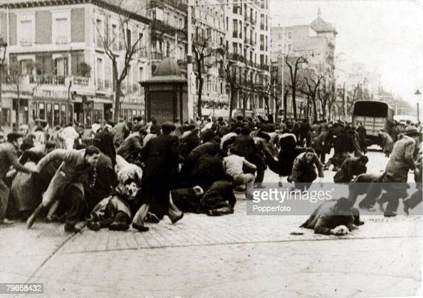 1933 Unarmed patriots being chased through the streets of Madrid by a rabble of armed socialists communists and syndicalists With what started as a...