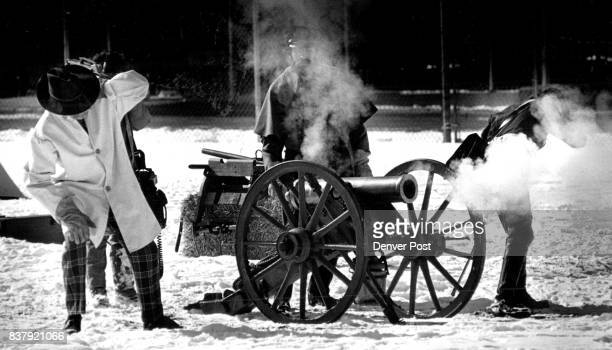 Civil War Encampment at Auraria Campus just north of the Tivoli These men are firing a reproduction of a model 1841 Howitzer cannon 12 Pdr Left to...