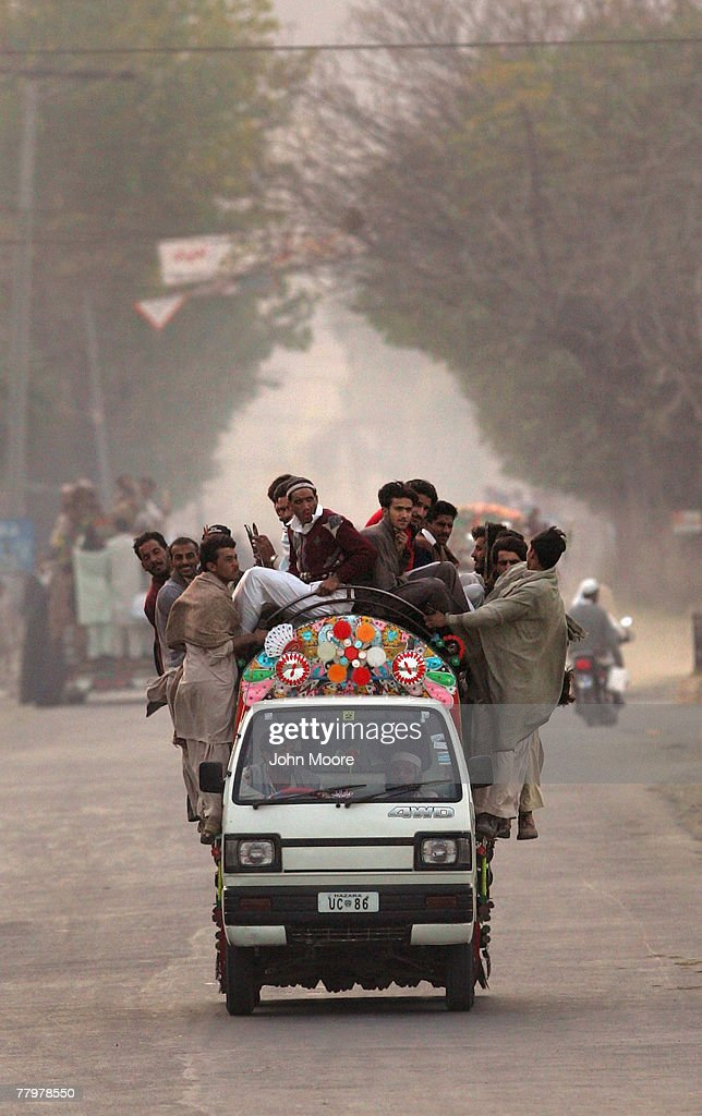 Civilians flee to government held areas ahead of a major Pakistani army offensive against pro-Taliban militants November 19, 2007 near Mingora, Pakistan. The military announced in the afternoon that civilians should leave the militant-controlled area ahead of the attack. By nightfall, Pakistani forces began heavy shelling against suspected militant positions outside of Mingora, located in the Swat Valley, formerly one of Pakistan's most popular tourist areas.