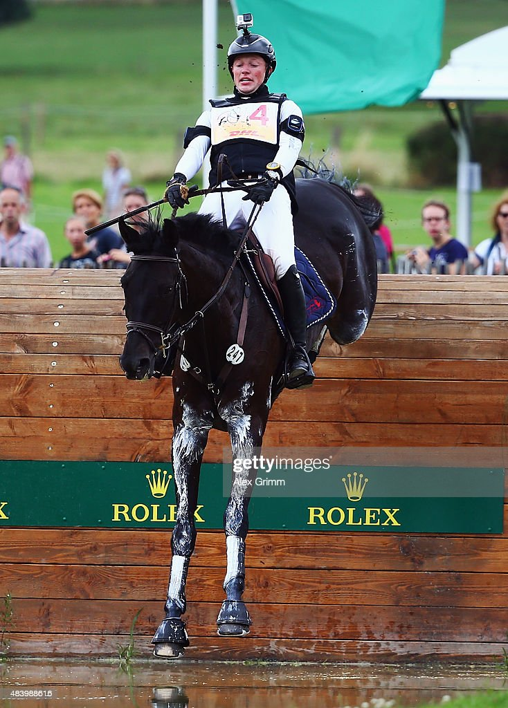 Claas Hermann Romeike of Germany competes on his horse Cato 60 during the Eventing Cross Country test on Day 3 of the FEI European Equestrian...