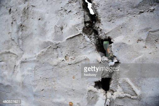 clacked wall : Bildbanksbilder