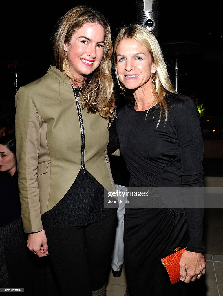 Claiborne Swanson Frank and Crystal Lourd attend a dinner hosted by Ali Larter celebrating the Devi Kroell Spring Summer 2013 Collection at Sunset Tower on November 1, 2012 in West Hollywood, California.