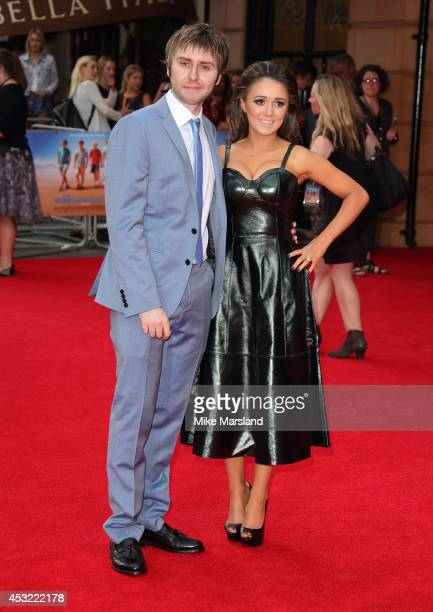 Clair Meek and James Buckley attend the World Premiere of 'The Inbetweeners 2' at Vue West End on August 5 2014 in London England