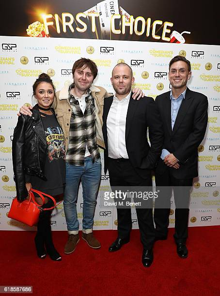 Clair Meek James Buckley Mark urphy and James Mullinger attend the UK Premiere of 'The Comedian's Guide To Survival' at Vue Piccadilly on October 27...