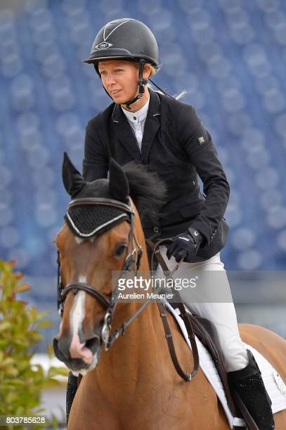 Claire Beecroft of Great Britain and Vanda Cartier compete on day 1 in the 4th Longines Paris Eiffel Jumping competiton on June 30 2017 in Paris...