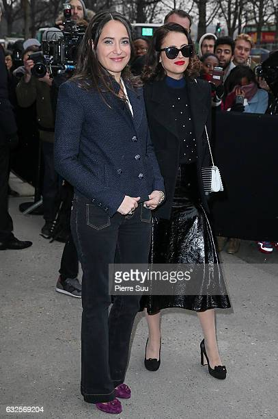 Claire Berest and Anne Berest arrive at the Chanel Haute Couture Spring Summer 2017 show as part of Paris Fashion Week on January 24 2017 in Paris...
