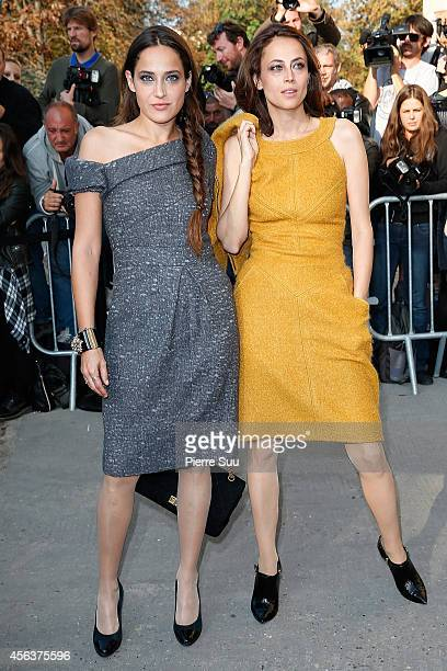 Claire Berest and Anne Berest arrives at the Chanel show as part of the Paris Fashion Week Womenswear Spring/Summer 2015 on September 30 2014 in...