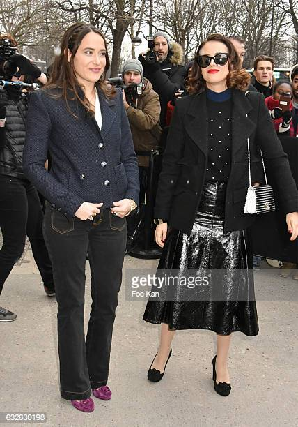 Claire Berest and Anne Berest attend the Chanel Haute Couture Spring Summer 2017 show as part of Paris Fashion Week on January 24 2017 in Paris France