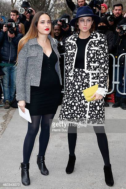 Claire Berest and Anne Berest attend the Chanel show as part of Paris Fashion Week Haute Couture Spring/Summer 2015 on January 27 2015 in Paris France
