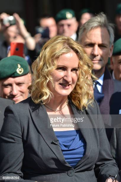 Claire Blackman wife of Sergeant Alexander Blackman aka Marine A seen at Royal Courts of Justice on March 28 2017 in London England A Royal Marine...