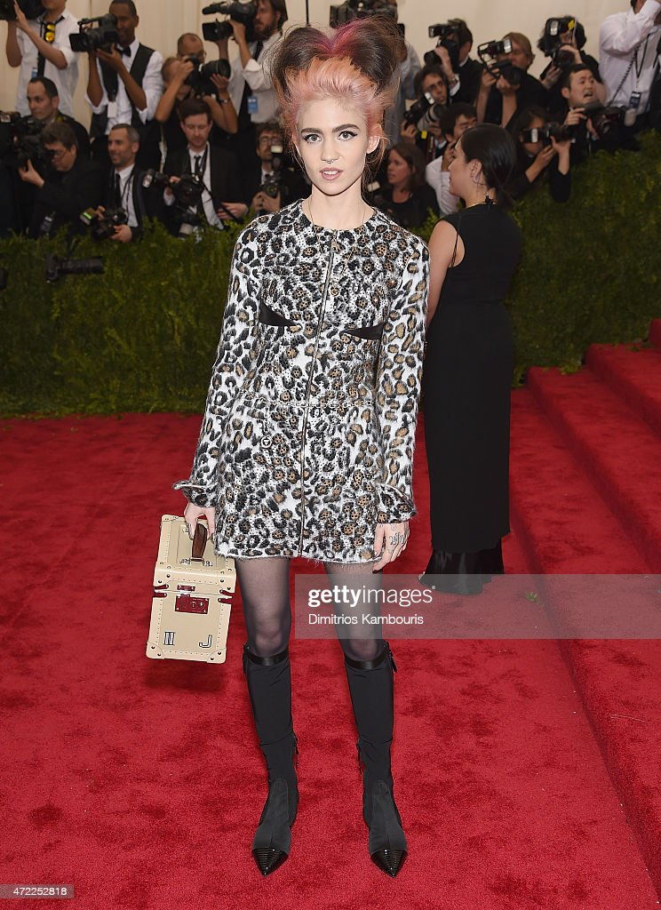 Claire Boucher attends the 'China Through The Looking Glass' Costume Institute Benefit Gala at the Metropolitan Museum of Art on May 4 2015 in New...